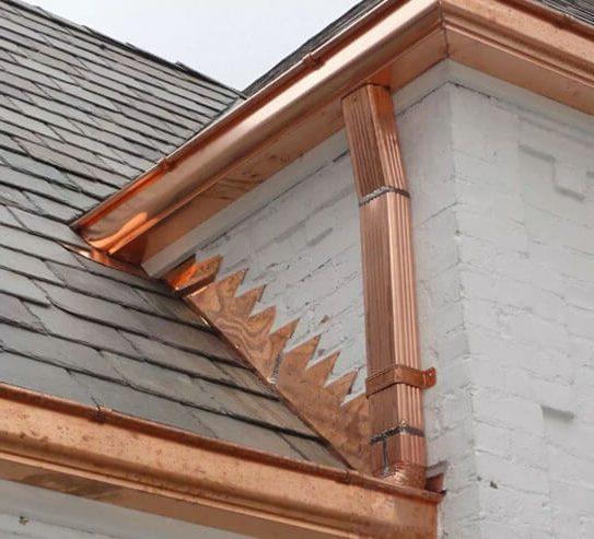 Copper Gutters Johnson City TN Bristol Contracting Services